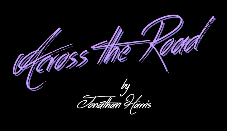 Across the Road font英文纹身字体|otf/ttf格式