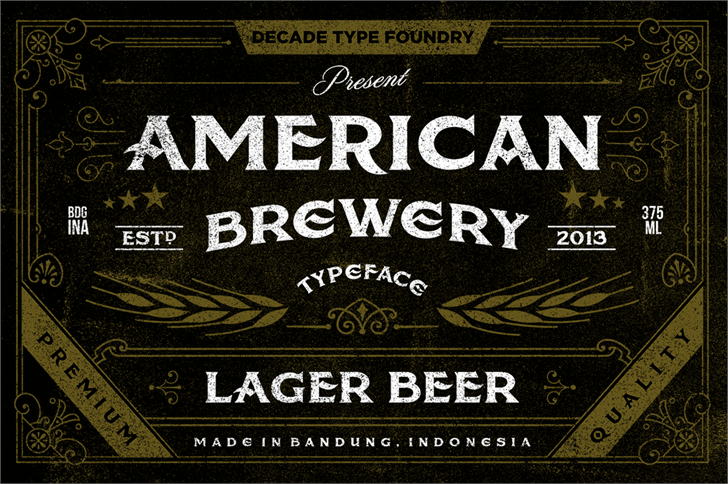 American Brewery Rough font英文纹身字体|otf/ttf格式