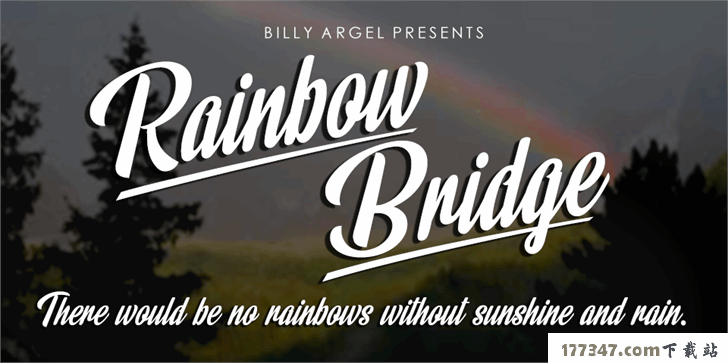 英文婚礼TTF格式Rainbow Bridge Personal Use字体
