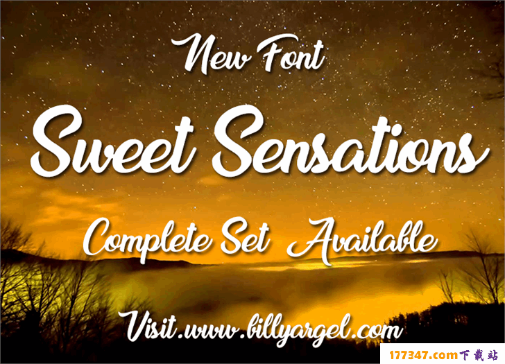 英文婚礼TTF格式Sweet Sensations Personal Use字体