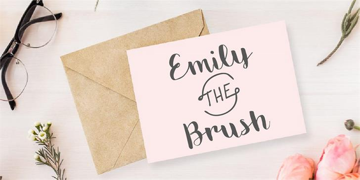 Emily The Brush Demo font英文字体|书法|otf/ttf格式