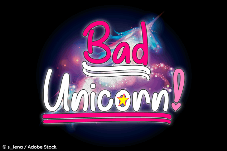 Bad Unicorn DEMO font英文请帖字体|otf/ttf格式