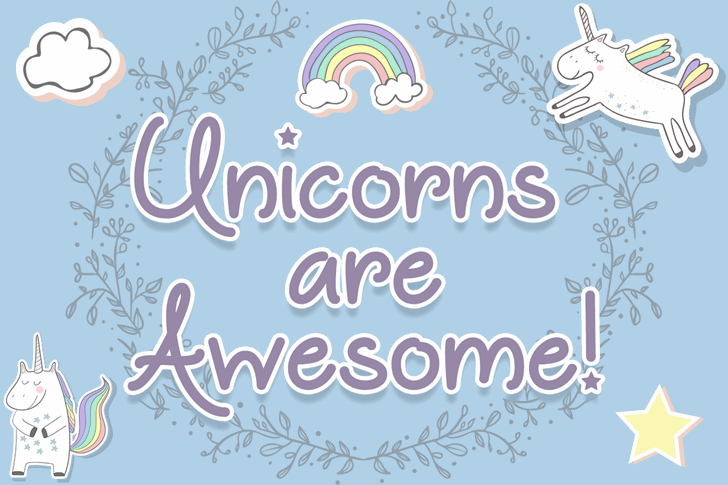 Unicorns are Awesome font英文请帖字体|otf/ttf格式