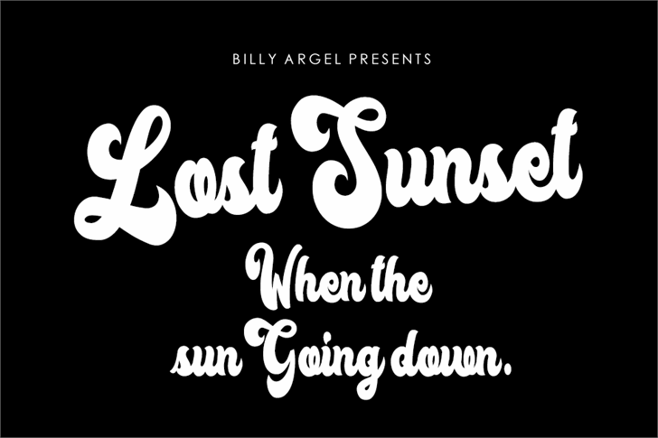 Lost Sunset Personal Use font英文请帖字体|otf/ttf格式