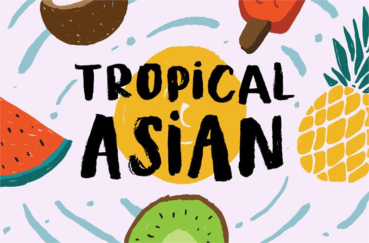Tropical Asian DEMO font英文派对字体|otf/ttf格式
