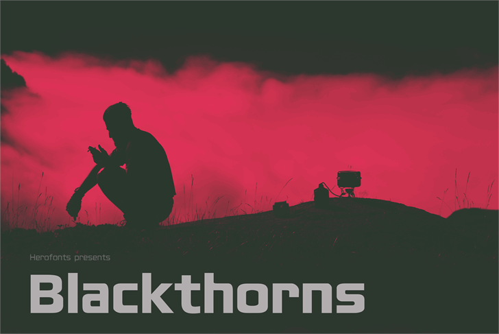 Blackthorns Demo font英文sans-serif字体|otf/ttf格式