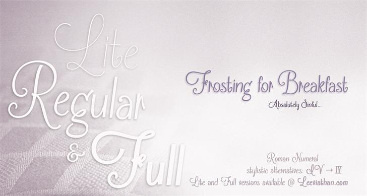 Frosting for Breakfast font英文script字体|otf/ttf格式