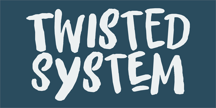 Twisted System DEMO font英文script字体|otf/ttf格式