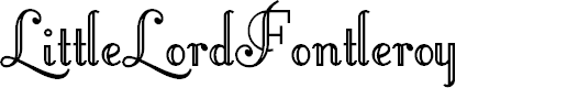 Little Lord Fontleroy font英文script字体|otf/ttf格式